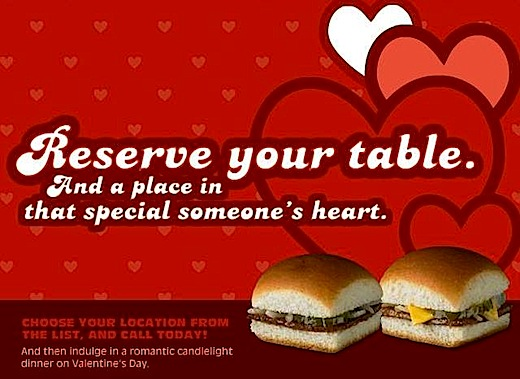 A fast food Valentines Day