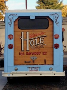 The delivery truck at The Hole