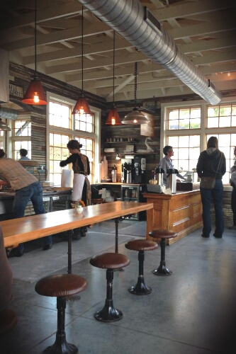 The interior of the new doughnut shop, The Hole, in Asheville, NC