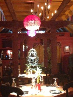 Buddhist Altar inside Cafe Kathmandu provided a romantic and spiritual atmosphere