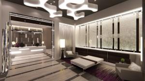 Rendering of new AC Hotel lobby