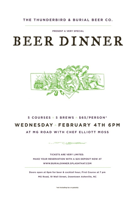 Burial Beer Dinner at MG Road