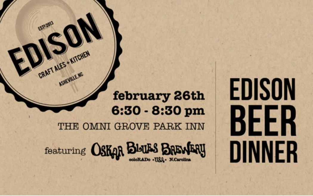 Edison Beer Dinner