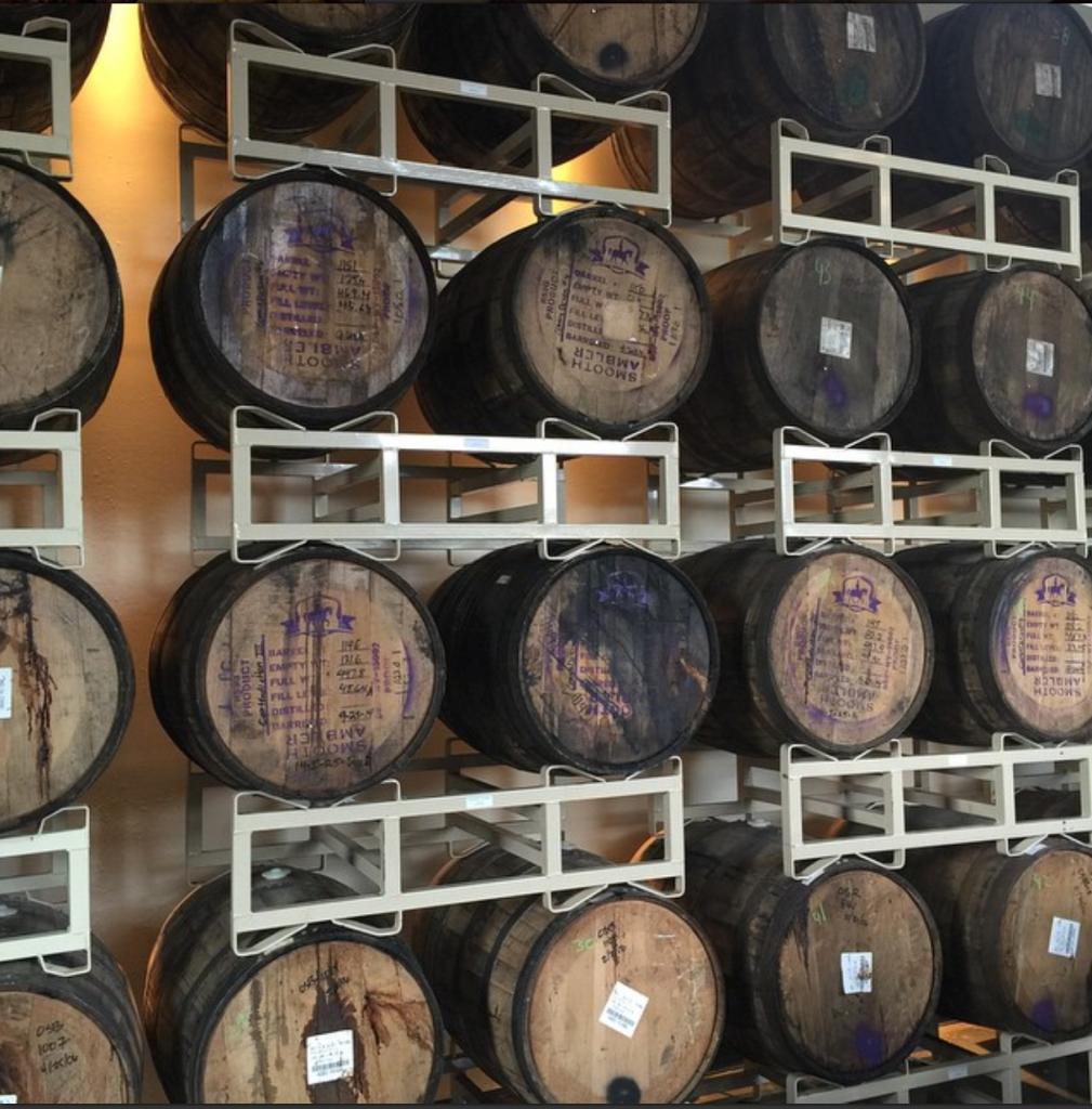 Barrels at Catawba Brewing Co