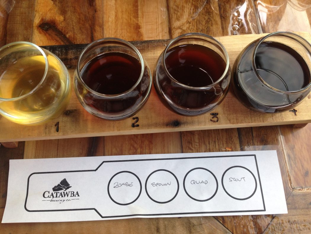 catawba brewing flight