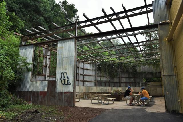 hi-wire beer garden