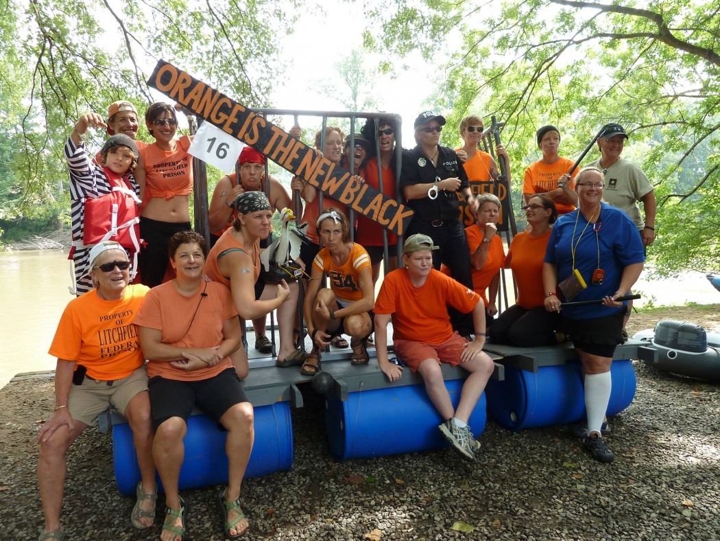 Orange Is The New Black Makes an appearance at Anything That Floats Parade | Photo Courtesy of RiverLink