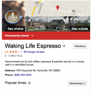 waking life espresso closed