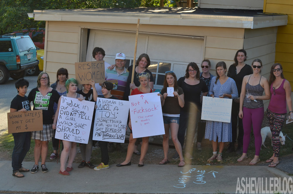 Protest at Waking Life Espresso