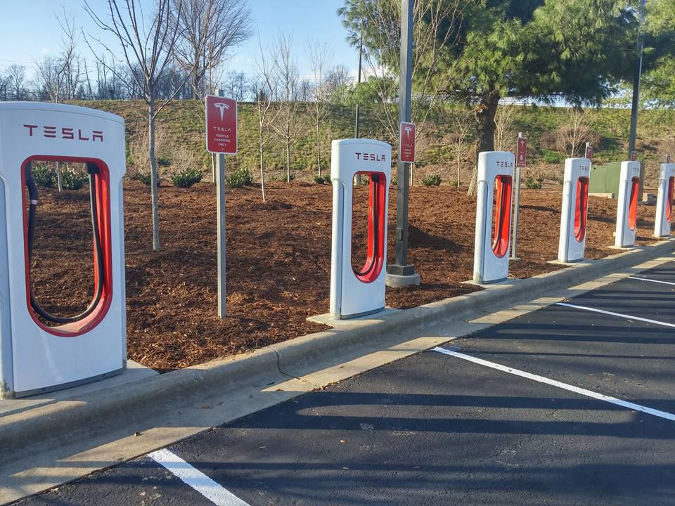 asheville outlets tesla charging