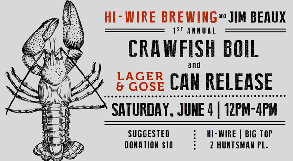 Hi Wire Brewing Crawfish boil