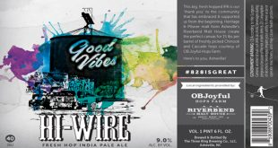 HiWire Brewing Creates Good Vibes Fresh Hop Double IPA