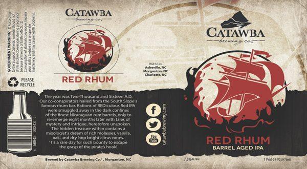 red rhum label