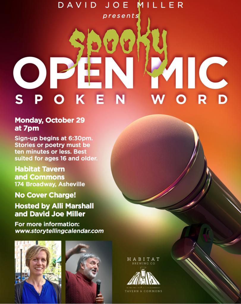 spooky open mic
