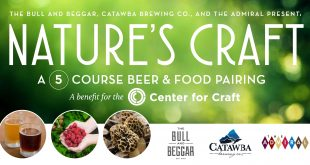 Menu Announced for Nature's Craft Beer Dinner at Catawba Brewing